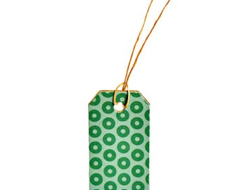 Green Pattern Tags {10}   Green Circle Tags   Merchandising Labels   Green Parcel Tags   Festive Green Tags   Christmas in July