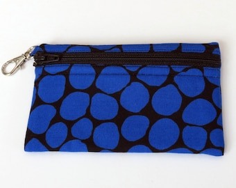 Royal Blue Jewel - Clip Coin Purse with Zipper Front