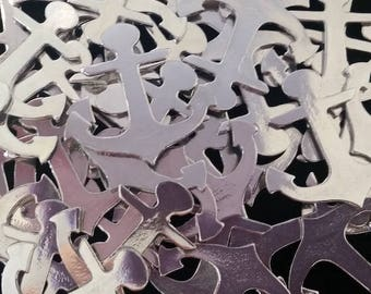 """Pewter Stamping Blanks - Anchor - Qty 3, 1 1/8"""" x 1 1/4"""", Bopper, Rustic Hand Casted Pewter Shapes, 16 Gauge Blanks, Pewter Blanks"""