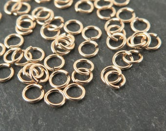 10pcs Gold Filled Open Jump Ring 3mm ~ 24ga (CG9344)