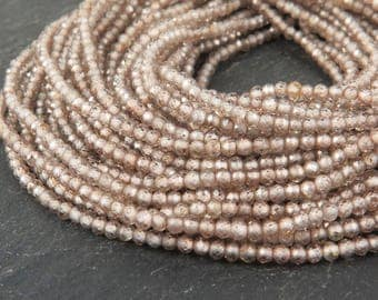 "AAA Champagne Zircon Faceted Rondelles 2mm ~ 13"" Strand (CG9525)"