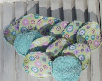 Set of 12 Reusable Face Scrubbies, Facial Rounds, Make Up pads,Lotion Applicators, Infant Washies