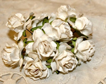 Creamy White Paper Flowers