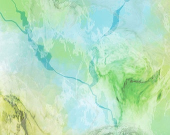 Milan Marble Texture Yellow Green P and B Textiles Fabric 1 yard