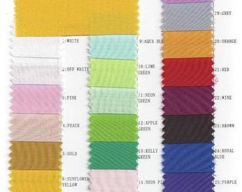 DDNJ Sheers Chiffon Color Chart For Customer Use Only NOT for SALE