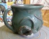 Medium teal/purple Octomug, the Octopus mug!