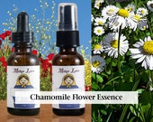 Chamomile Flower Essence, 1 oz Dropper or Spray for Releasing Tension, Calming Upset
