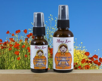 Energy, Enthusiasm Flower Essence Aromatherapy Spray, Organic, Reiki-Infused, Bach Flowers and Essential Oils