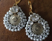 New Earrings with Vintage Chanel Buttons