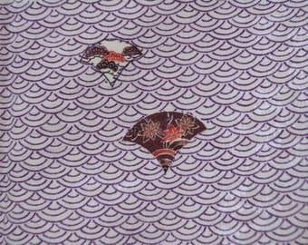 Vintage kimono S527, komon purple white