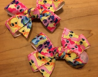 My Little Pony Hair Bow - faces, My little pony, my little pony bow, my little pony party, my little pony birthday, my little pony favors
