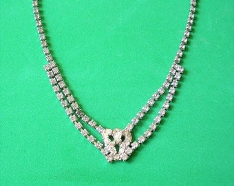 Vintage Rhinestone Necklace Vintage Costume Jewelry