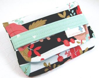 Sanitary Pad Holder, Modern Floral, Period Bag, Period Kit, Black Stripe, Pads Pouch, Sanitary Napkins Bag, Period Pads, Feminine Products