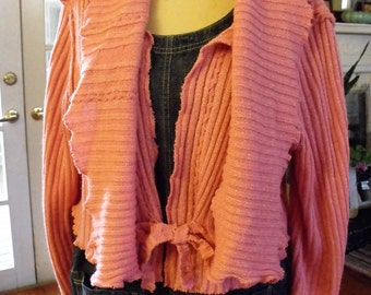 Cropped Sweater Top/ Wear Over Jumpers and Dresses/ Plus Size to 1X/ Sheerfab Funwear