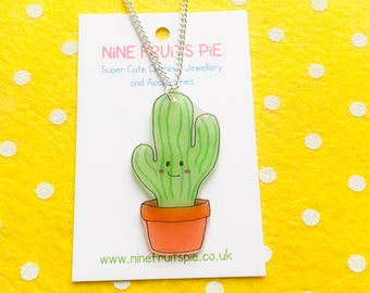Large super kawaii cactus earrings