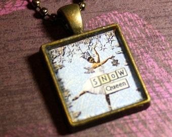 Snow Queen Resin Necklace - Christmas - Resin Pendant