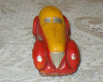 Sun Rubber Car Vintage Toy Sedan #103 Vintage 1930s Antique