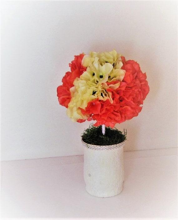 Hydrangea Ball Centerpieces : Wedding centerpiece hydrangea ball topiary flower