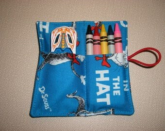 Crayon Rolls . Party Favor . Dr Seuss . Cat in the Hat
