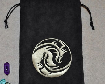Dungeons and Dragons tribal yin yang game dice bag