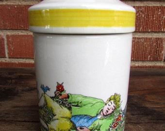 Stavangerflint Norway Rare Vintage Inger Waage Bergen Lidded Jar