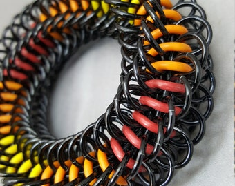 "Blackmaille Chainmaille Fidget Toy - ""Inner Fire"""