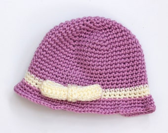 Little Bow Hat, Baby Hat, Toddler Hat, Child Hat, Little Girl Hat, Custom, Chose Colors, Winter Hat