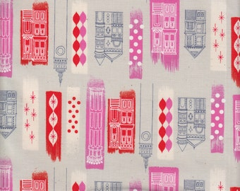 Cotton + Steel Melody Miller Jubilee In The City in Pink - Half Yard