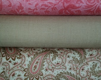 Emily Rose Cotton Quilt Fabric Collection  & Friends-FREE US SHIPPING!