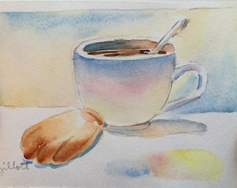 Original watercolor; 'Mamy Therese' madeleines #5