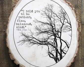 Bon Iver Skinny Love- mixed media on reclaimed wood