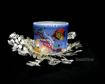 Handmade Beadwork, Lifestyle - Under the Sea: Tealight Holder