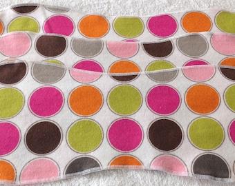 Dot  Flannel Burp Cloths - Set of 3