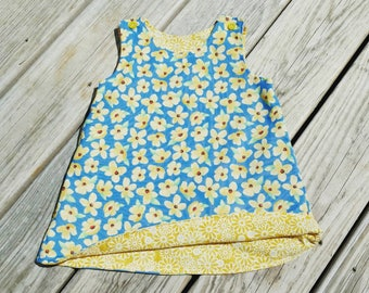 Toddler Spring Dress - Flower Dress - Dogwood Flower Dress - Girls Beach Dress  - Girls Spring Dress- Birthday Dress - Groovy Gurlz