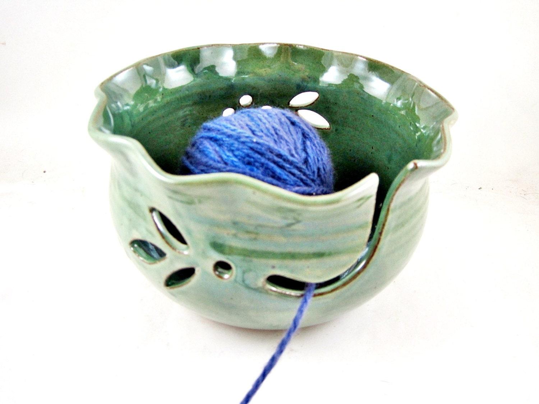 Knitting Yarn Bowl : Yarn bowl large knitting pottery by ningswonderworld