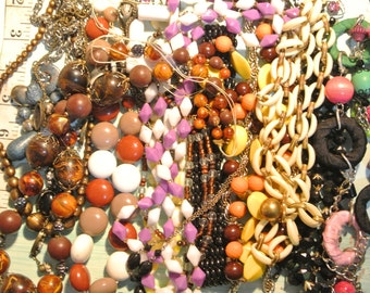 LOT 22 Assorted Vintage Beaded Junk Jewelry Lot