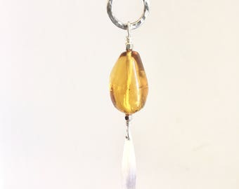 Honey Amber Sterling Silver Necklace