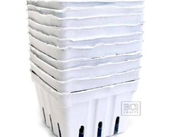 10 pc White Berry Basket, Strawberry Baskets, 1 pint size