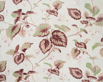 French 19C fabric with climbing vines