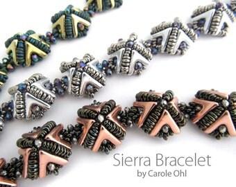Sierra Bracelet Beadweaving Tutorial by Carole Ohl