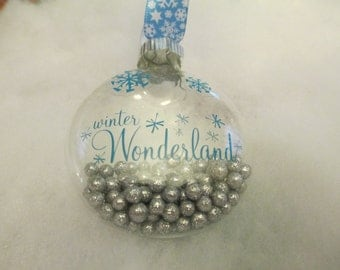 Winter Wonderland Handmade Glass Christmas Ornament