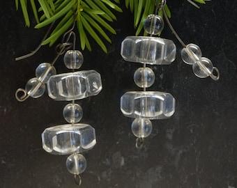 Incredible Vintage Lucite Tiered earrings