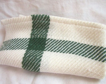 Forrest Green and White Tea-towel.