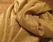 Elegant, Crinkley Deep Gold... Round Gold Tablecloth,  Holywood Glamour, Glitz
