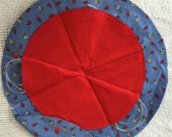 Circular Circular Knitting Needle Case-Ladybugs