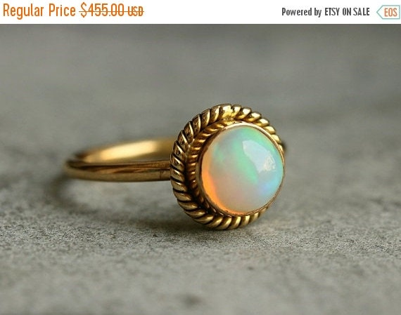 Proposal ring 14K Gold Opal ring Natural Opal Ring by Studio1980
