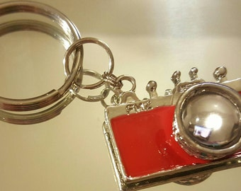 Red Camera Key Chain