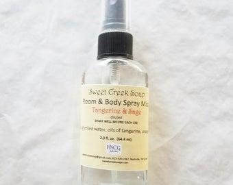 Aromatherapy Spray, Tangerine & Sage, 2 oz.