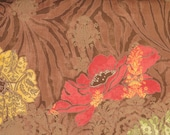 Cotton quilting print - 1/2 yard of large brown floral from Urban Couture by Basic Grey