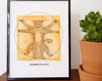Leopardo da Vinci Fine Art Print - home decor, wall decor